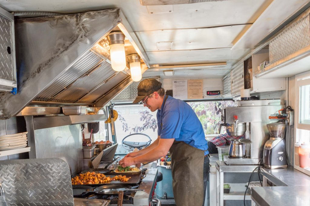 Food Shoot cropped truck interior